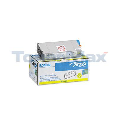 KONICA 7812 TONER CARTRIDGE YELLOW
